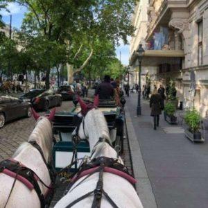 vor dem Grand Hotel in Wien
